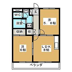 ウィンピア[3階]の間取り