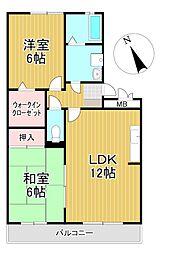 エクセル東合川II[3階]の間取り