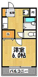 大阪府東大阪市稲田本町2丁目の賃貸マンションの間取り