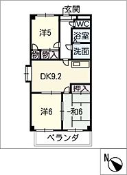 ドエル松[2階]の間取り