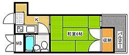 シャトーリヨン[2階]の間取り