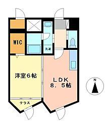 川津ビル[8階]の間取り