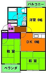 静岡県浜松市東区笠井町の賃貸マンションの間取り