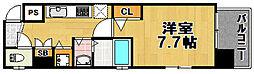 ボンジュール西九条[5階]の間取り