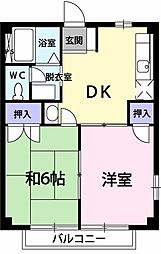 KASUGA貳番館[201号室]の間取り