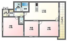 駒川グリーンマナー[4階]の間取り