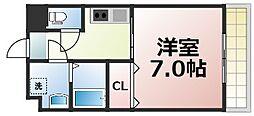 Osaka Metro千日前線 今里駅 徒歩6分の賃貸マンション 7階1Kの間取り