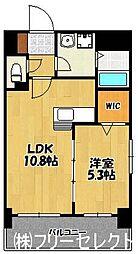 クレセント美野島[8階]の間取り