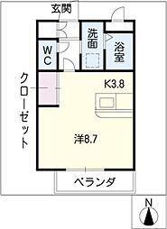 ケイハウス[1階]の間取り