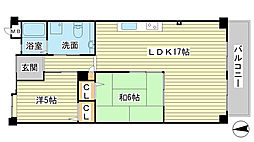 O−2マンション A棟[A103号室]の間取り