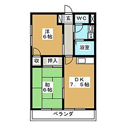 Excelsior西多賀[2階]の間取り