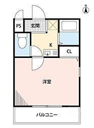 シティーライト江坂[3階]の間取り