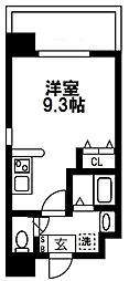 (仮称)都島本通4丁目新築マンション 2階ワンルームの間取り