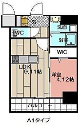 THE HILLS KOKURA[707号室]の間取り