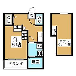 (仮)上谷刈向原4丁目コーポ[1階]の間取り