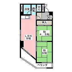 マンションわくら[2階]の間取り