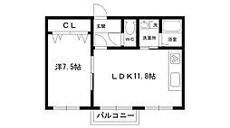 甲子園フラット[301号室]の間取り
