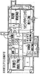 ビコーズ戸田III[401号室]の間取り