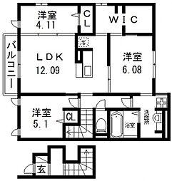 仮称)D-room若江南町B棟[205号室号室]の間取り