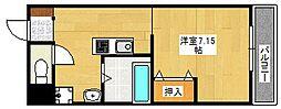 マリーナ帝塚山[3階]の間取り