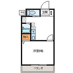 クオーレ平成弐番館[2階]の間取り