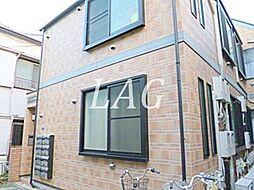 東京都新宿区余丁町の賃貸アパートの外観