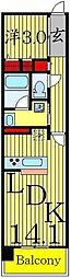 ロイヤルパークス西新井[3階]の間取り
