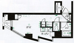 仙台リエゾン[A512号室]の間取り