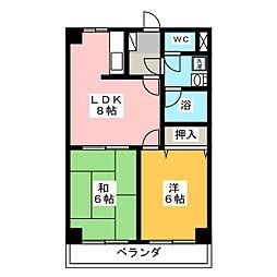 ラ・プラージュ[1階]の間取り