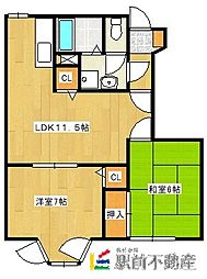 エスト・ソレイユC[1階]の間取り