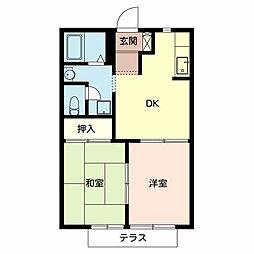 タウニィーイシヅ[1階]の間取り