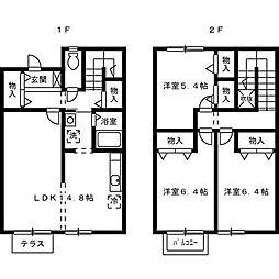 [テラスハウス] 大阪府堺市中区土師町4丁 の賃貸【/】の間取り