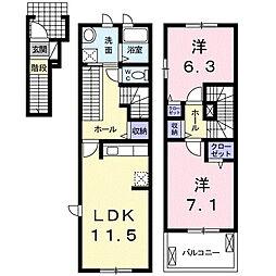 プリムローズK・III[2階]の間取り