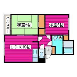 北海道札幌市北区篠路二条7丁目の賃貸マンションの間取り