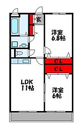 ルミエールKAN[3階]の間取り
