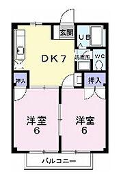メープルファームI[1階]の間取り