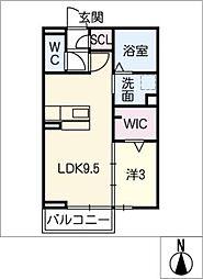 キートスマルカ B棟[1階]の間取り