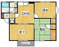 サンハイツII(国府津)[102号室号室]の間取り