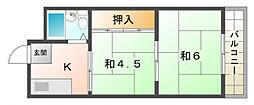 第1シャトーモリオカ[3階]の間取り