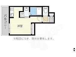 福岡市地下鉄空港線 大濠公園駅 徒歩5分の賃貸マンション 2階ワンルームの間取り