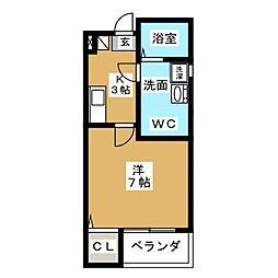 クレフラスト杉栄[2階]の間取り