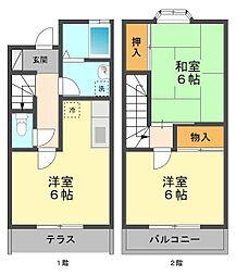 JR総武線 小岩駅 徒歩25分の賃貸アパート 1階3Kの間取り