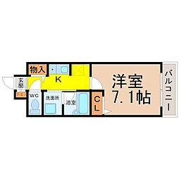 愛知県名古屋市瑞穂区洲山町2丁目の賃貸マンションの間取り