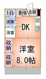 ソーレ 1階1DKの間取り