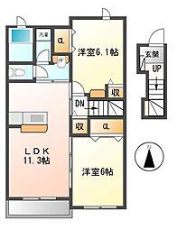 アリビエ 2[2階]の間取り