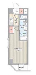 JR総武線 浅草橋駅 徒歩7分の賃貸マンション 3階1Kの間取り