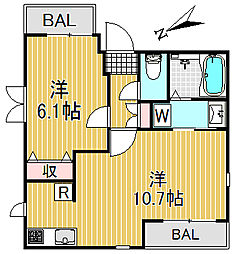 メゾン桜[4階]の間取り