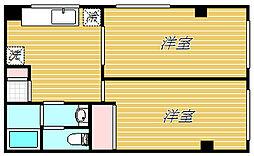 東京都葛飾区お花茶屋1丁目の賃貸マンションの間取り