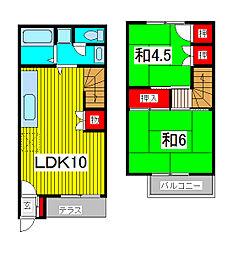 [テラスハウス] 埼玉県さいたま市浦和区神明2丁目 の賃貸【埼玉県 / さいたま市浦和区】の間取り