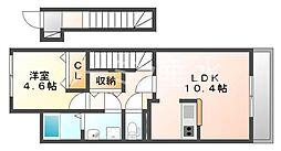 シェールクレール[2階]の間取り